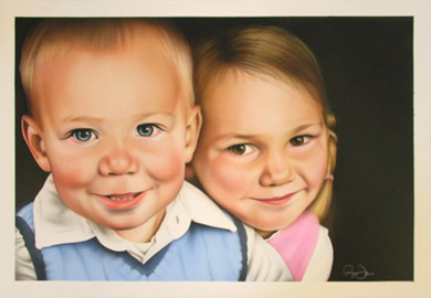 commissioned portrait by the Darren Coombs family in Fargo North Dakota