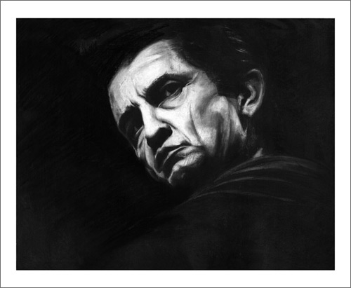 johnny cash art print poster